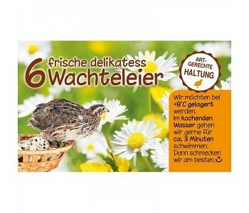 Etikette für 6er Karton- Wachteleierschachtel Motiv7