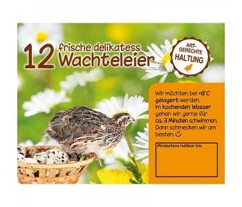 Etikette für 12 er Wachteleier-Kartonschachtel Motiv6