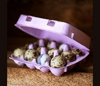 12er Wachteleierschachtel Karton - Lavender