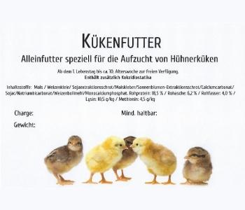 Hühner Kükenfutter