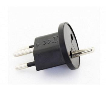 Permanent Fix- Adapter EU-CH 3-polig schwarz