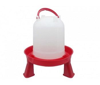 Stülptränke rot mit Füssen, 1,5 Liter