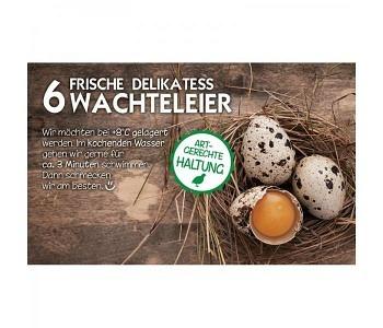 Etikette für 6er Wachteleier-Kartonschachtel-Motiv2